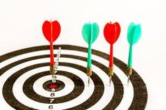 Pijltjedoel, bedrijfsconcept van doel marketing Succes of Doelsymbool Stock Afbeelding