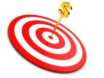 Pijltjes en dollar stock illustratie