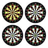 pijltjes Reeks doelstellingen voor het spelen pijltjes Vector Stock Afbeeldingen