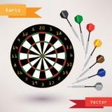 Pijltjesdoel en pijltjes, vectorillustratie  Royalty-vrije Stock Foto
