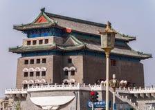 Pijltoren bij Tienanmen-Vierkant, Peking China Stock Foto