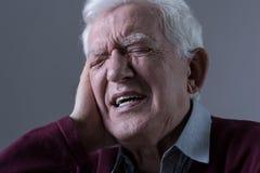 Pijn in het oor Royalty-vrije Stock Afbeelding