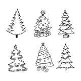 Pijnboom, vectorillustratie op uw canvas Stock Foto