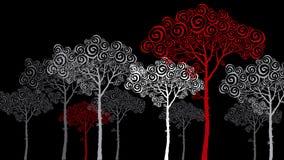 Pijnboomsilhouet Royalty-vrije Stock Afbeeldingen