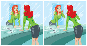 Pijnlijk meisje vector illustratie