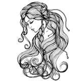 Pijnlijk Meisje stock illustratie