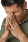 Pijnlijke migraine Stock Foto