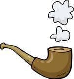 Pijp met rook Royalty-vrije Stock Afbeeldingen