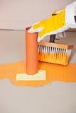 Pijp met waterdichte vloer Royalty-vrije Stock Afbeeldingen