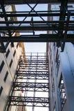 Pijpen die lijnen in industrieel Philips Area Strijp S vormen royalty-vrije stock foto