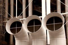 Pijpen van pompidou in blanck en wit Stock Foto's