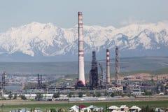 Pijpinstallatie in Shymkent kazachstan royalty-vrije stock foto