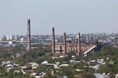 Pijpinstallatie in Shymkent kazachstan stock foto's
