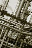 Pijpleidingen, buizen, olie en brandstof stock foto's