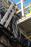 Pijpleidingen van Raffinaderijfabriek en isolatie bij industriezone royalty-vrije stock foto's