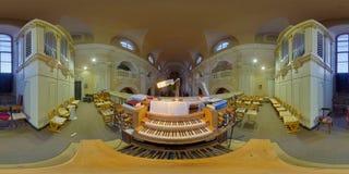 Pijporgaan in de Katholieke Kerk van Piarists in cluj-Napoca, Roemenië Stock Afbeelding