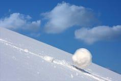 piłka śnieg Zdjęcia Royalty Free