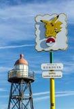Pikachu Pokémon IŚĆ gorący punkt Zdjęcia Stock