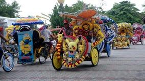 Pikachu trehjuling Arkivfoto
