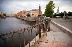 Pikalov bridge in Saint-Petersburg, Russia Stock Images