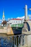 The Pikalov bridge in St Petersburg Royalty Free Stock Image