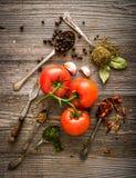 pikantność świezi pomidory zdjęcia stock