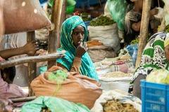 Pikantność handlarz, Etiopia Fotografia Royalty Free
