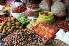 Pikantność rynek w Myanmar Fotografia Royalty Free