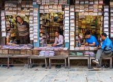 Pikantność Sklepowy Kathmandu i herbata, Nepal Obraz Royalty Free