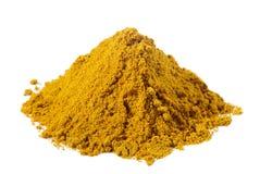 Pikantność - stos Łagodny Madras curry nad biel Fotografia Stock