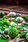 Pikantność Tajlandia I krajowy warzywo Fotografia Stock