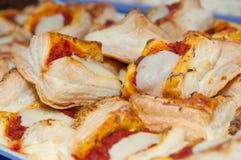 Pikantny, pizza, z mozzarella serem Obrazy Royalty Free
