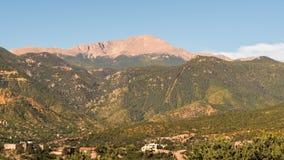 Pikar når en höjdpunkt, Colorado Springs, Co Arkivbilder