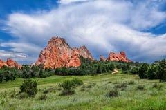 Pikar når en höjdpunkt berget, Colorado, USA Arkivfoton