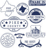 Pike county, PA, generic stamps and signs Stock Photos