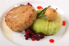 Pike cutlets on plate Stock Image