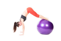Pike on Exercise Ball Royalty Free Stock Photography