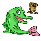 Pike fish Russian fairy tale Stock Photos