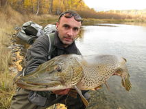 Pike fishing Stock Photography