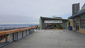 Pike market 2017 expansion during construction royalty free stock photo