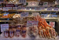 pike market miejsca owoce morza fotografia royalty free