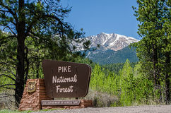 Pike National Forest sign Royalty Free Stock Photo