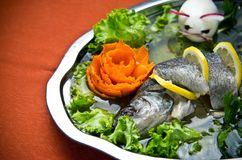 Pike perch elegant dish served Stock Image