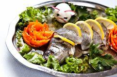 Pike perch elegant dish served Stock Image