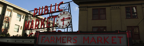 Pike Place Farmers Market Day stock image