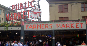 Pike Place Farmers Market Royalty Free Stock Photography