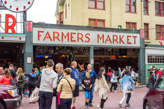 Pike Place Farmers Market Stock Photo