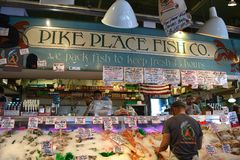 Pike Place Fish Co. Royalty Free Stock Images