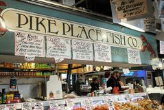 Pike Place Fish Company Stock Photos