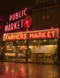 Pike place market. At night Royalty Free Stock Photos